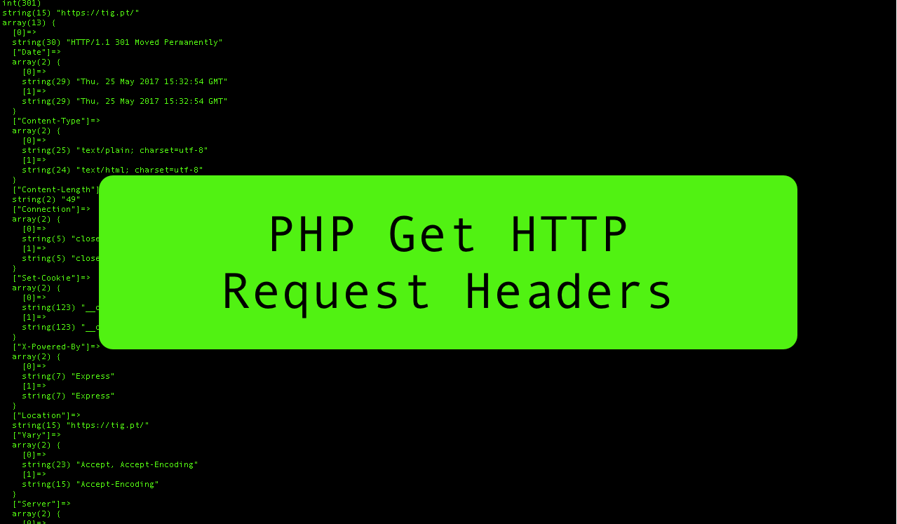 PHP Get HTTP Request Headers - get_headers()